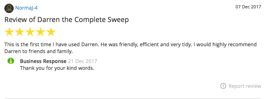 Complete Sweep Chimney Services Customer Reviews